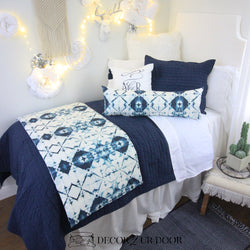 Navy Ombre Dorm Bedding Set