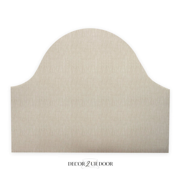 Solid Tan Padded Fabric Headboard