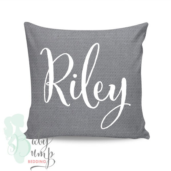 Solid Grey Square Throw Pillow Cover
