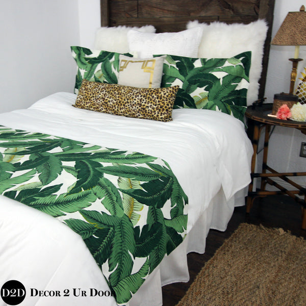 Palm Leaf & Cheetah Print Designer Bedding Collection