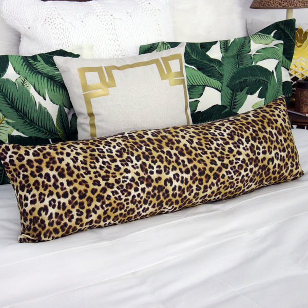 Cheetah Print Long Lumbar Pillow Cover