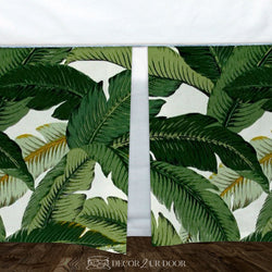 Palm Leaf Print Baby Crib Skirt