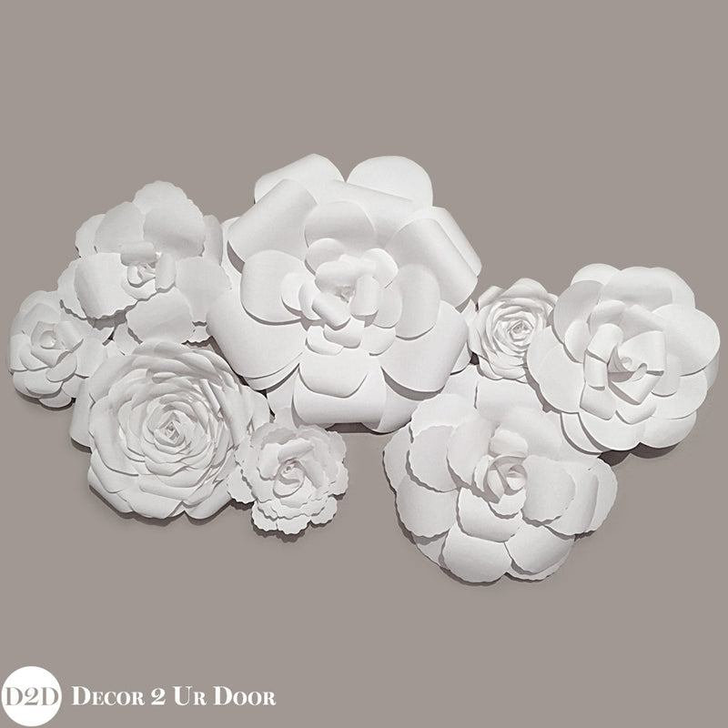 Handmade Paper Flowers Wall Arrangement