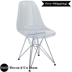 Modern Clear Plastic Molded Ghost Chair