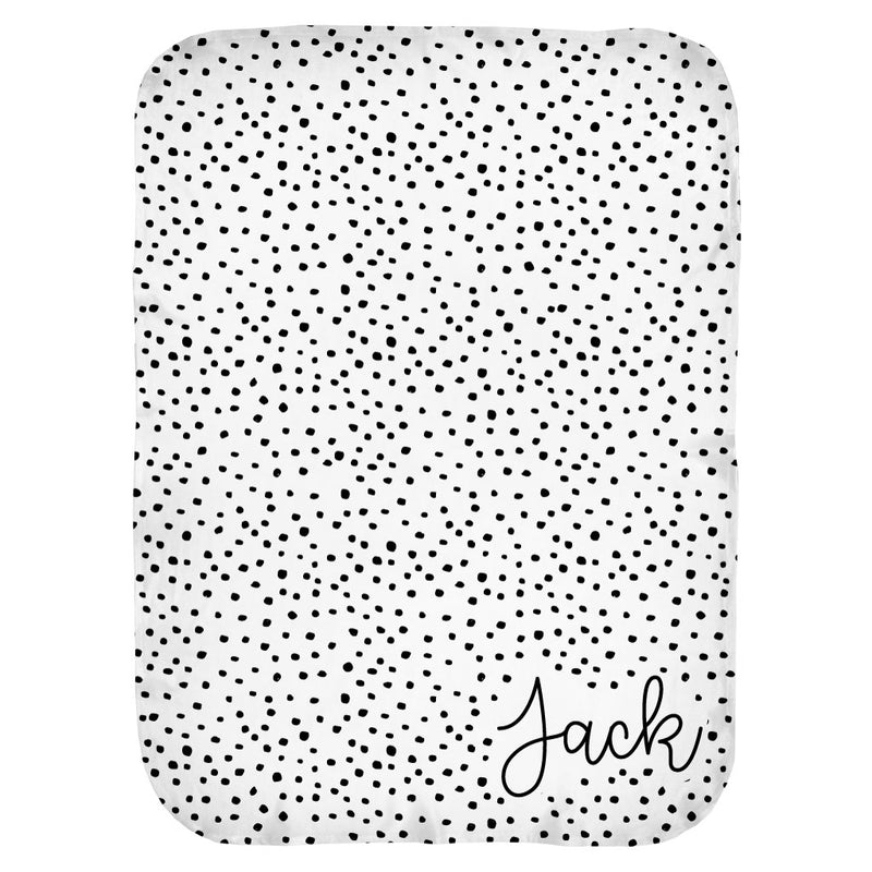 Dalmatian Spots Personalized Swaddle Blanket