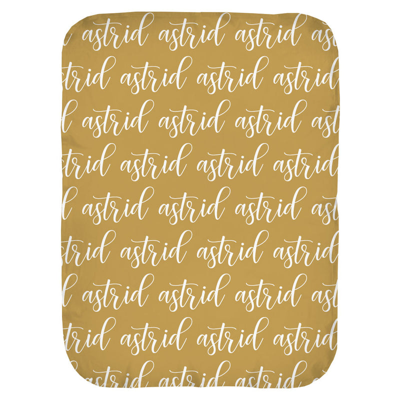 Script Repeat Name Personalized Swaddle Blanket