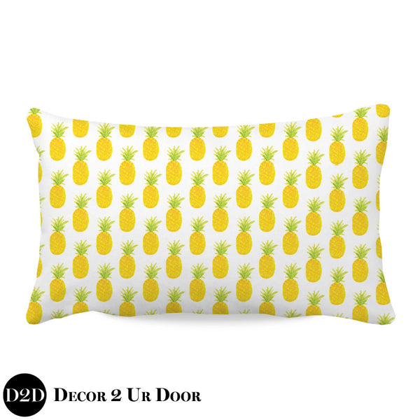 Watercolor Pineapple Lumbar Nursery Throw Pillow Cover