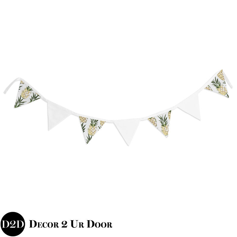 Pineapple Print Wall Fabric Pennant Banner
