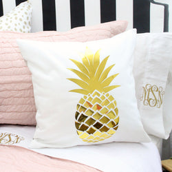 Pineapple Square Pillow Cover