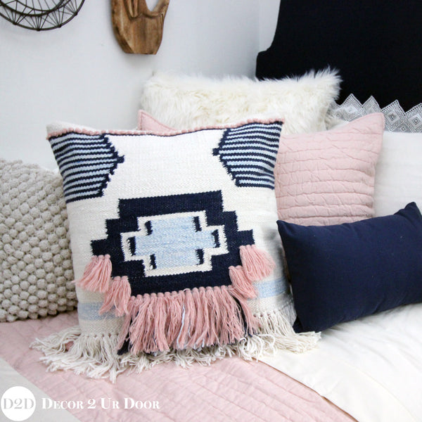 Pink & Navy Boho Designer Bedding Collection