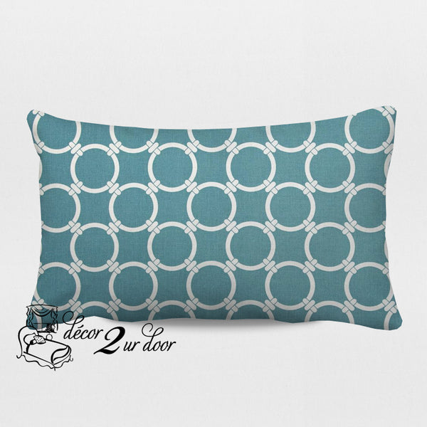 Regatta Blue Links Designer Lumbar Pillow Cover