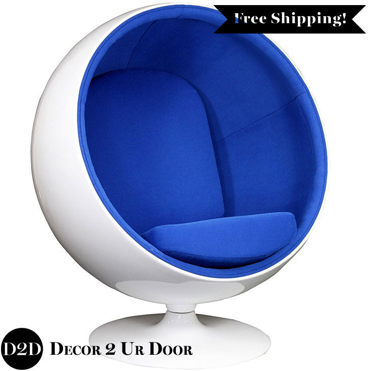 Modern Retro Ball Shaped Lounge Chair