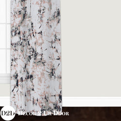 Blush Carrara Marble Custom Window Curtain/Closet Panel