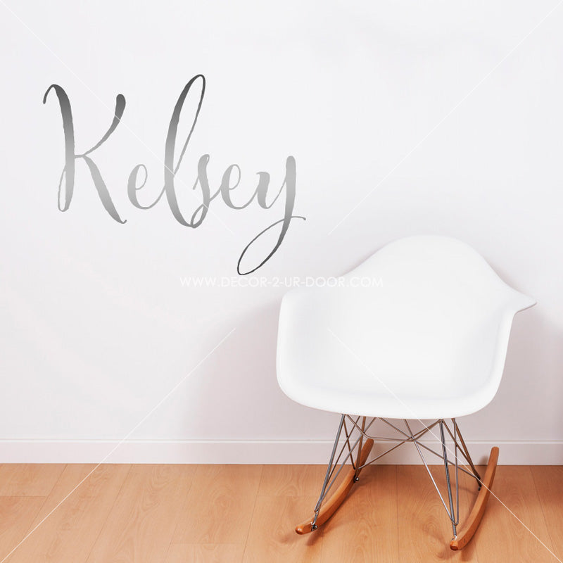 Script Name Personalized Vinyl Wall Decal