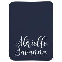 Script Name Personalized Sherpa Baby Blanket