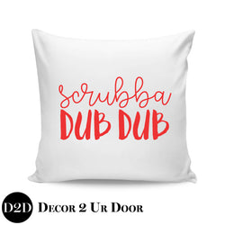 Scrubba Dub Dub Farmhouse Square Throw Pillow Cover
