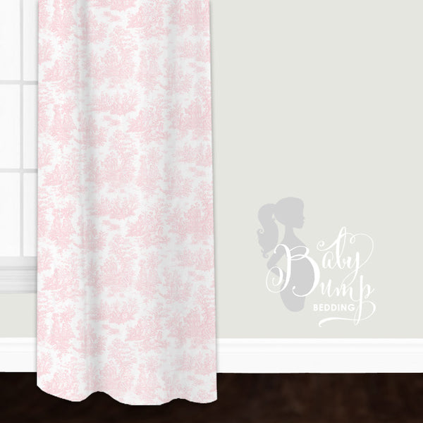 Pink Toile Closet + Window Curtain