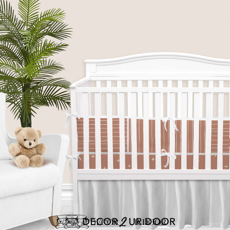 Sienna Bone Stripes Baby Girl Crib Bedding Set