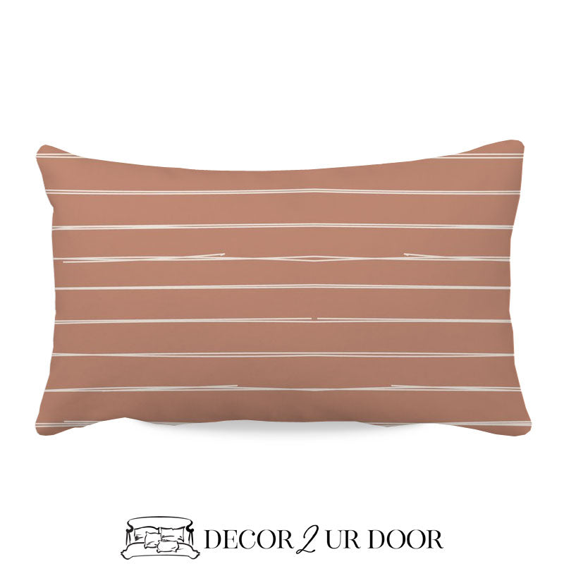 Sienna Bone Stripes Lumbar Nursery Throw Pillow Cover