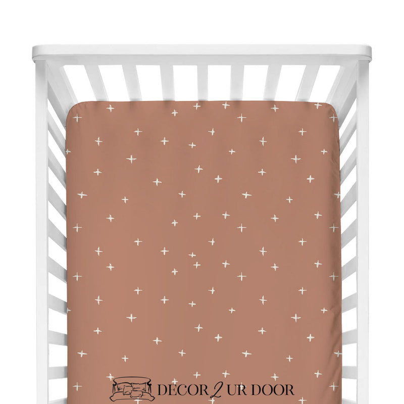 Sienna Swiss Cross Fitted Crib Sheet