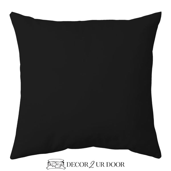 Solid Black Euro Pillow Cover