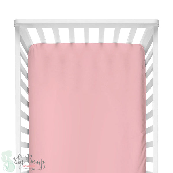 Solid Blush Pink Fitted Crib Sheet