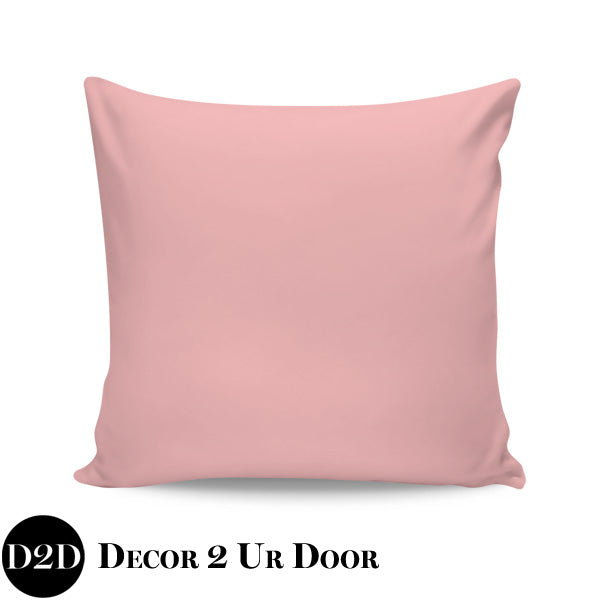 Solid Blush Pink Euro Pillow Cover