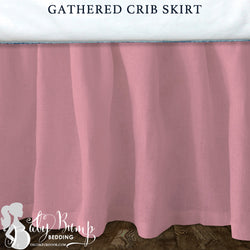 Solid Blush Pink Baby Crib Skirt