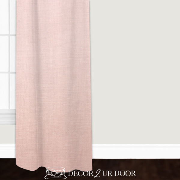 Solid Blush Pink Linen Custom Window Curtain/Closet Panel