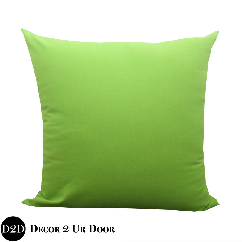 Solid Chartreuse Euro Pillow Cover