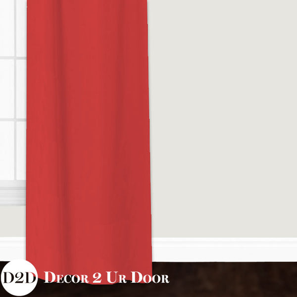 Solid Coral Closet + Window Curtain