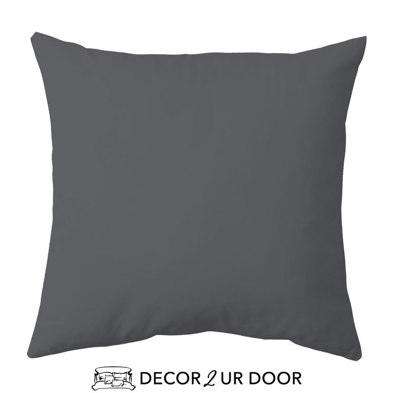 Solid Flamingo Grey Euro Pillow Cover