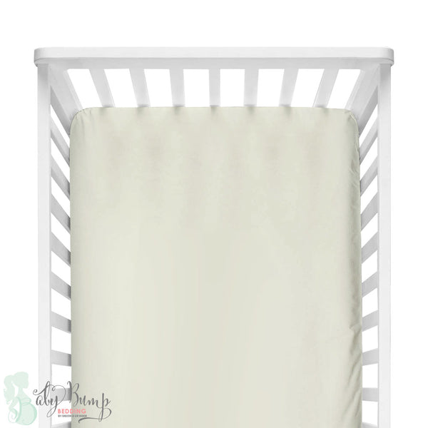 Solid Ivory Fitted Crib Sheet