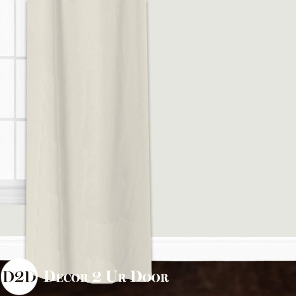 Solid Ivory Linen Custom Window Curtain/Closet Panel