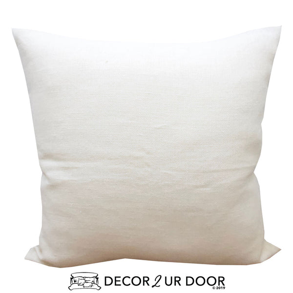Solid Natural Euro Pillow Cover