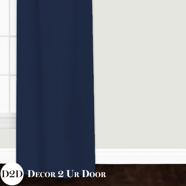 Solid Navy Closet + Window Curtain