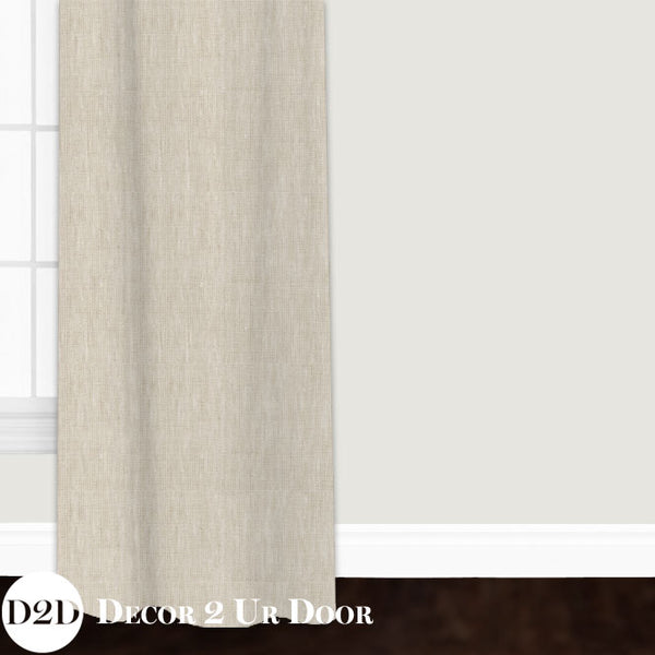 Solid Tan Custom Window Curtain/Closet Panel