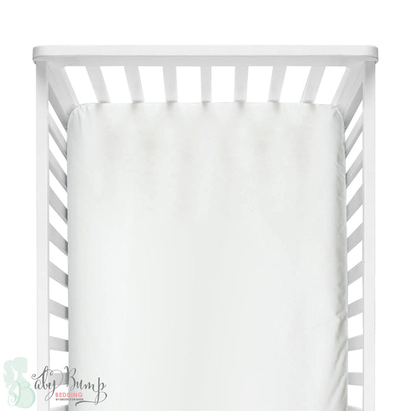 Solid White Fitted Crib Sheet