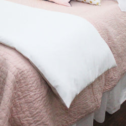 Solid White Bed Scarf