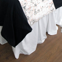 "Solid White Linen 15"" Drop Bed Skirt"