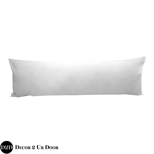 Solid White Long Lumbar Pillow Cover