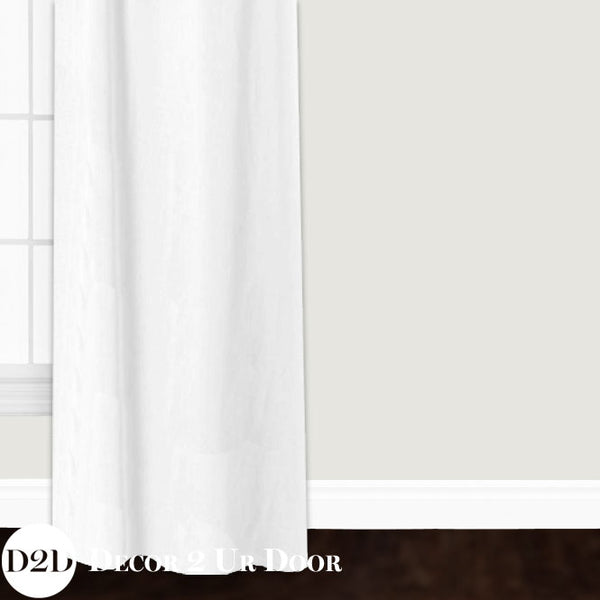 Solid White Linen Custom Window Curtain/Closet Panel