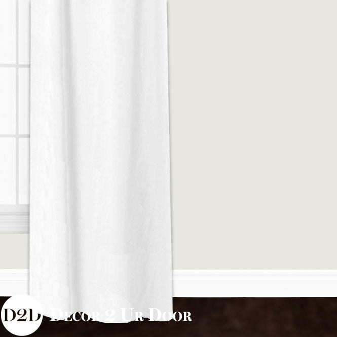 White Linen Closet + Window Curtain