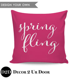 Spring Fling Square Throw Pillow Cover