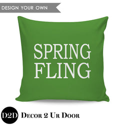 Spring Fling Block Square Throw Pillow Cover