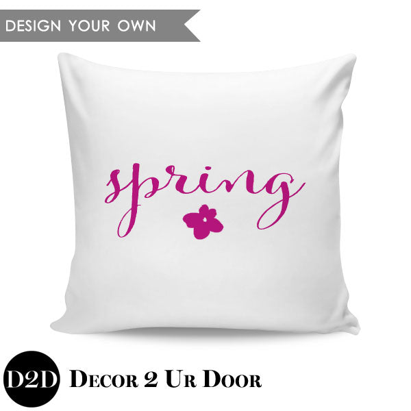 Spring Flower Square Throw Pillow Cover