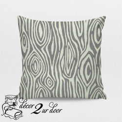 Storm Grey Willow Square Throw Pillow Cover