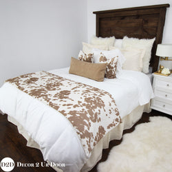 Tan Cowhide Designer Bedding Collection