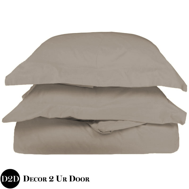 Solid Tan Duvet Cover and Sham Set