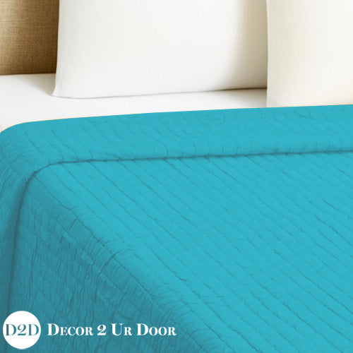 Solid Teal Quilt
